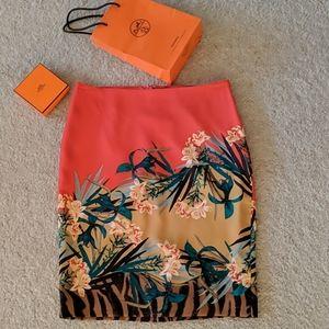 Beautiful Coral Orange Pencil Skirt